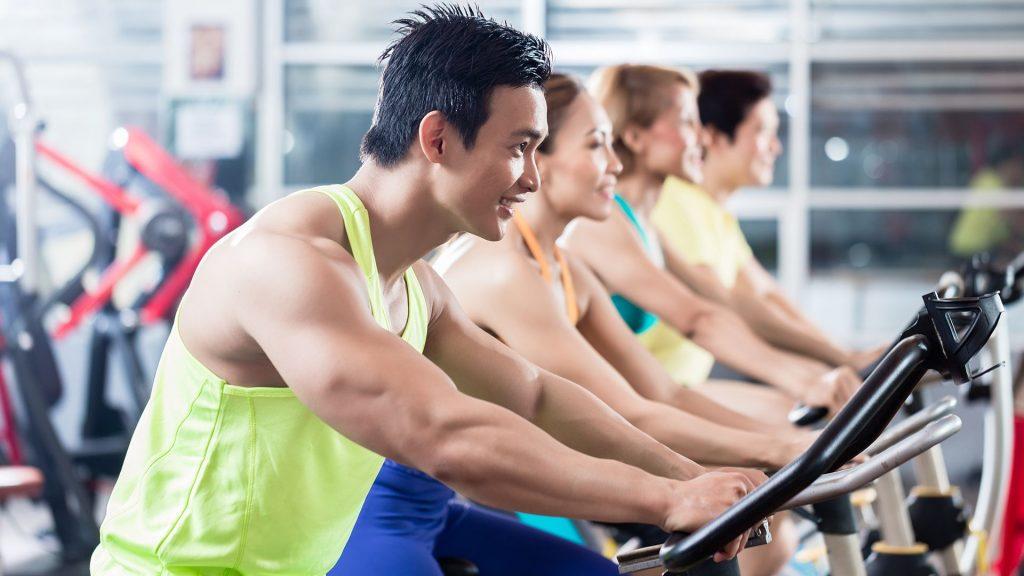 Cardiotraining im Fitnessstudio