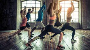 Kursteilnehmer bei uns im Fitnessstudio