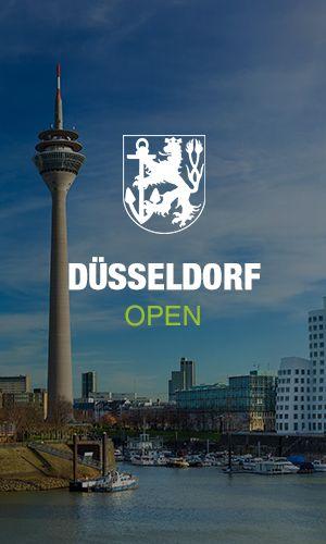 Düsseldorfer Wappen mit dem Fernsehturm